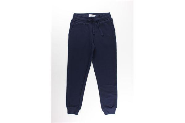 pantalone in felpa tinta unita con elastico e stampa JOHN RICHMOND   Pantaloni   RBA20017PABLU