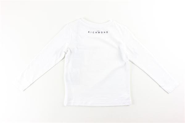shirt tinta unita con stampa logo JOHN RICHMOND   Shirts   RBA20019TSBIANCO