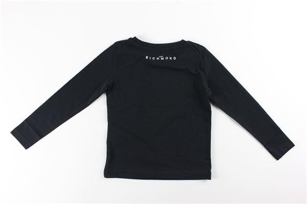 shirt tinta unita con stampa logo JOHN RICHMOND   Shirts   RBA20019TSNERO