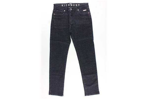 jeans 5 tasche tinta unita con stampa logo JOHN RICHMOND | Jeans | RBA20051JENERO