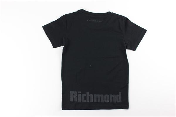 t-shirt mezza manica tinta unita con stampa JOHN RICHMOND | T-shirts | RBA20114TSNERO