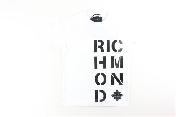 t-shirt mezza manica tinta unita con stampa JOHN RICHMOND | T-shirts | RBA20186TSBIANCO