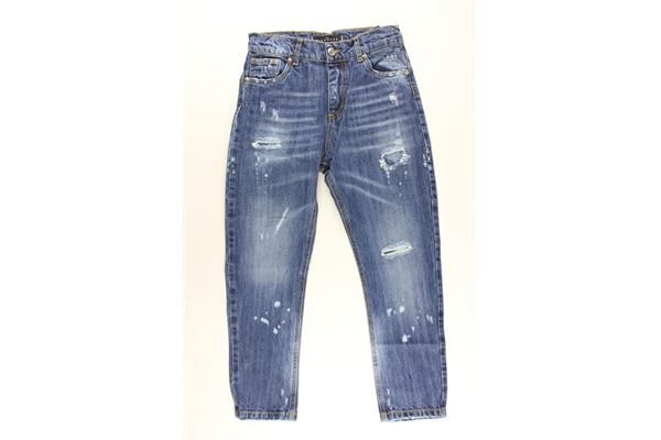 jeans 5 tasche tinta unita con stampa logo JOHN RICHMOND | Jeans | RBP20140JEBLU
