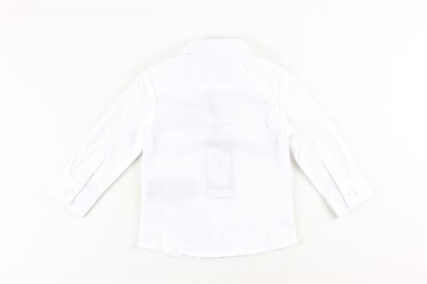 camicia tinta unita con stampa logo JOHN RICHMOND | Camicie | RIA19088CABIANCO