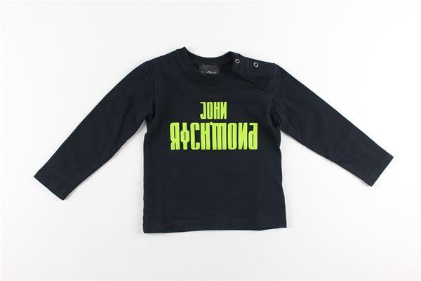 shirt tinta unita con stampa logo JOHN RICHMOND | Shirts | RIA20009TSNERO