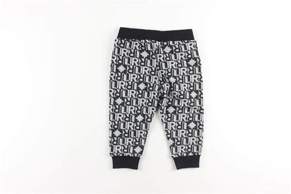 pantaloni in felpa tinta unita con stampa logo JOHN RICHMOND | Pantaloni | RIA20043PANERO