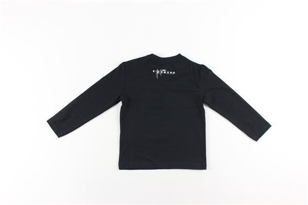 shirt tinta unita con stampa logo multicolor JOHN RICHMOND | Shirts | RIA20101TSNERO