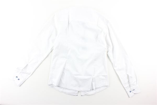 camicia manica lunga tinta unita con microfantasia JOHN TWING | Camicie | JT9237BIANCO