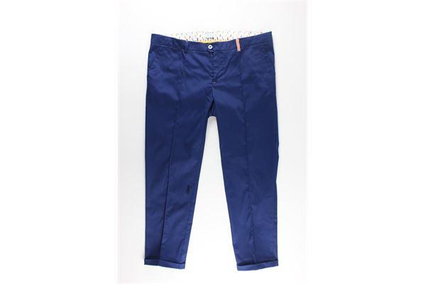 pantaloni tinta unita girovita regolabile JOHN TWING | Pantaloni | JTO1316BLU