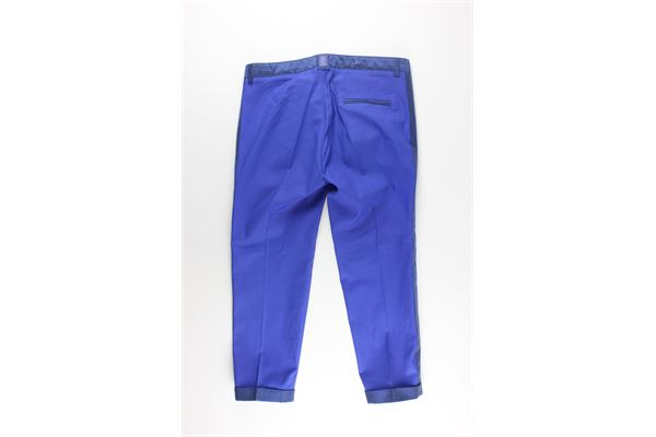 pantalone tinta unita girovita regolabile JOHN TWING | Pantaloni | JTO1321BLU ELETTRICO