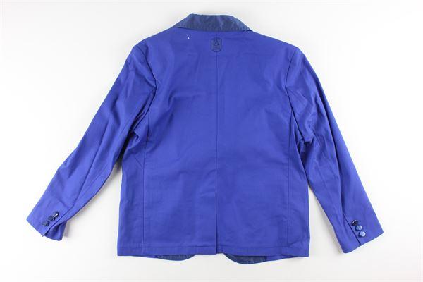 giacca tinta unita con profili in contrasto JOHN TWING | Giacche | JTO4166BLU ELETTRICO
