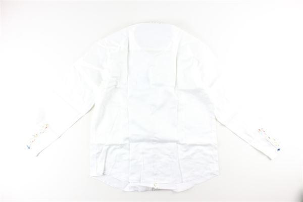 camicia tinta unita con profili in contrasto JOHN TWING | Camicie | JTO9356A224823BIANCO
