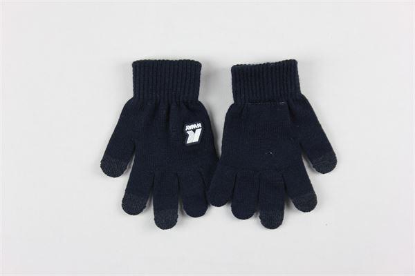 guanti tinta unita con stampa logo K-WAY | Guanti | K008K10.1BLU
