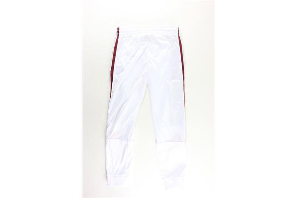pantalone acetato tinta unita con profili in contrasto KAPPA   Pantaloni   303LP70BIANCO