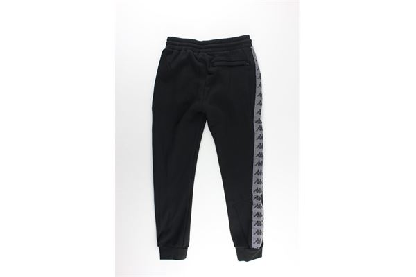 pantalone tuta tinta unita con profili catarifrangenti KAPPA   Pantaloni   31141TWNERO