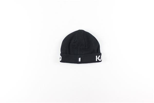 cappello tinta unita in cotone con stampa KARL LAGERFELD   Cappelli   Z2100809BNERO