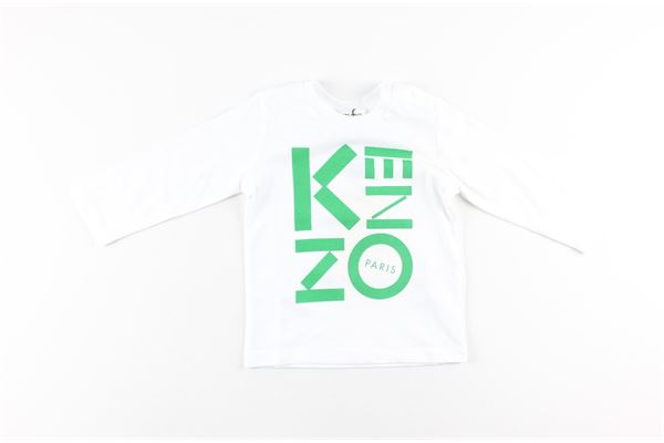 shirt tinta unita con stampa logo KENZO | Shirts | KR10567BIANCO