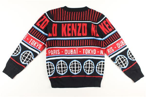 maglia girocollo stampa fantasia KENZO | Maglie | KR18538NERO
