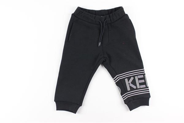 pantalone in felpa tinta unita con stampa KENZO | Pantaloni | KR23628NERO