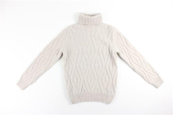 maglia collo alto tinta unita LA FILIERA | Maglie | 13166BEIGE