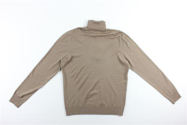 maglia collo alto tinta unita LA FILIERA | Maglie | 57131BEIGE