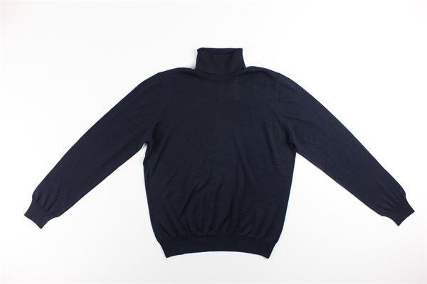 maglia collo alto tinta unita LA FILIERA | Maglie | 57131BLU