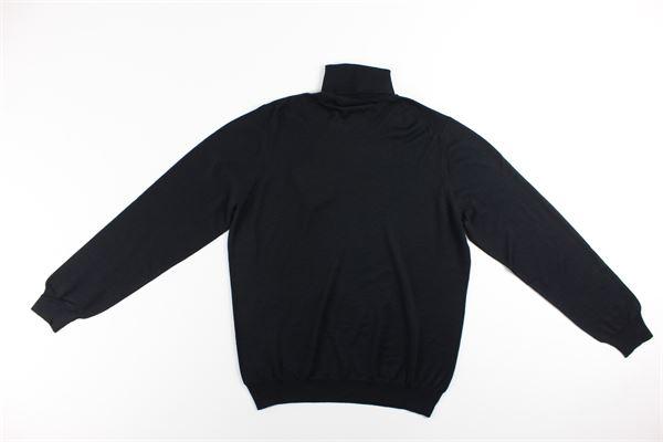 maglia collo alto tinta unita LA FILIERA | Maglie | 57131NERO