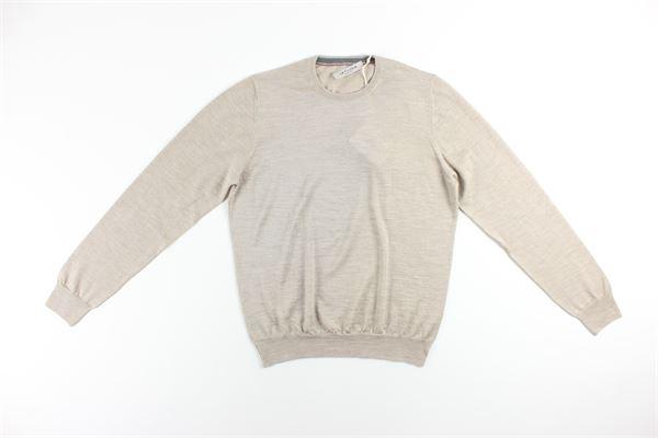 maglia girocollo tinta unita LA FILIERA | Maglie | 57167BEIGE