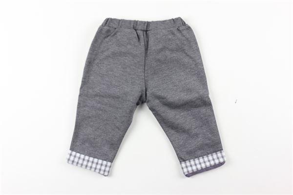 pantalone tinta unita con profili in contrasto LALALU'   Pantaloni   PANTLGRIGIO