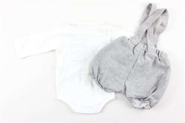 completo salopettes+shirt LALALU'   Completi   SALOP2GRIGIO