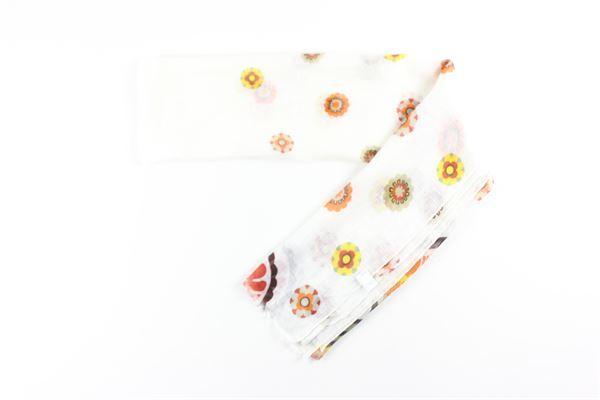 sciarpa stampa fantasia 100%lino L.B.M.1911 | Sciarpe | 09093/4BIANCO