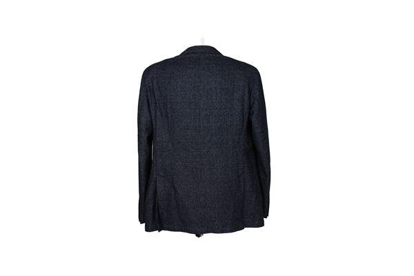 giacca tinta unita con microfantasia L.B.M.1911 | Giacche | 2450BLU