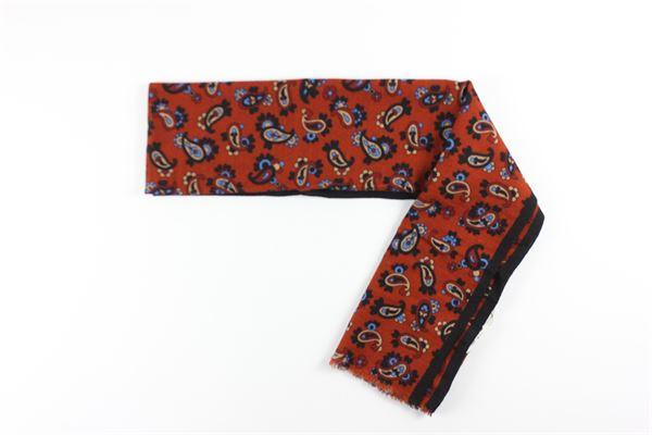 foulard stampa fantasia L.B.M.1911 | Foulards | 65789573ARANCIO