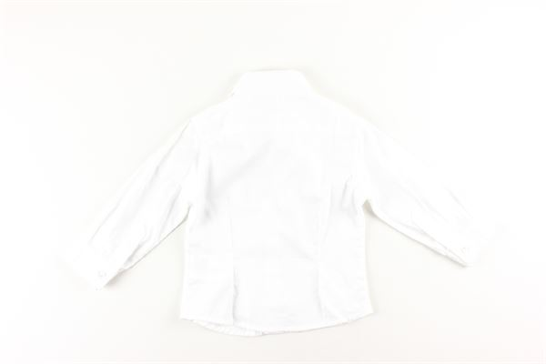 camicia tinta unita manica lunga microfantasia LE BEBE'   Camicie   LBB0766BIANCO
