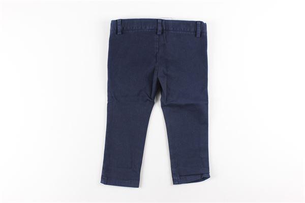 pantalone tinta unita tasca america girovita regolabile LE BEBE'   Pantaloni   LBB0858XBLU