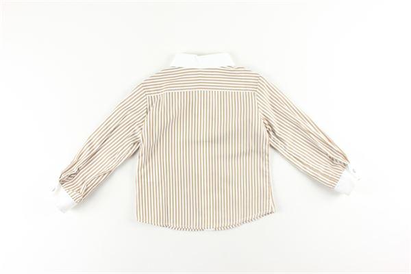 camicia fantasia a righe manica lunga LE BEBE'   Camicie   LBB1392BIANCO