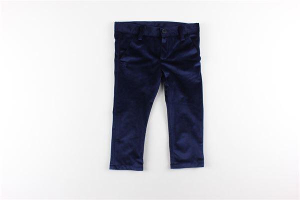 pantalone tinta unita in velluto LE BEBE'   Pantaloni   LBB1484BLU