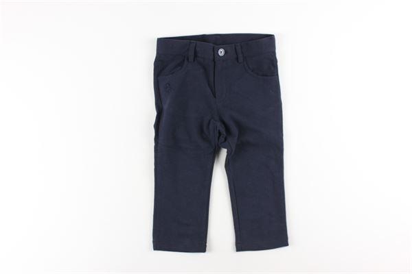 pantalone tinta unita 5 tasche girovita regolabile LE BEBE'   Pantaloni   LBB2175BLU