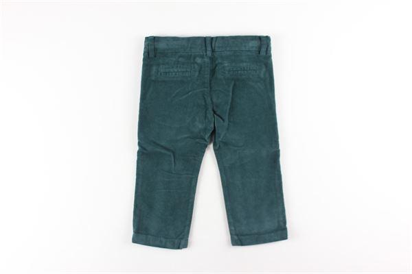 pantalone tinta unita tasca america girovita regolabile LE BEBE'   Pantaloni   LBB2178VERDE