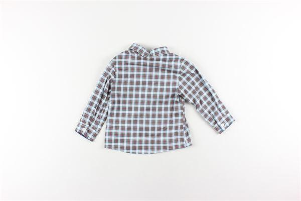camicia manica lunga fantasia a quadri LE BEBE'   Camicie   LBB2193BEIGE