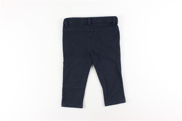 pantalone tinta unita tasca america girovita regolabile LE BEBE'   Pantaloni   LBB2200BLU