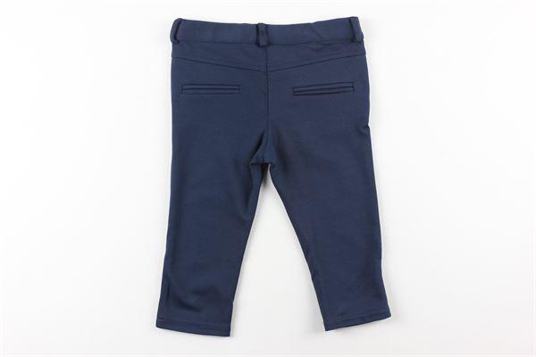 pantalone tinta unita girovita regolabile LE BEBE'   Pantaloni   LBB2253BLU