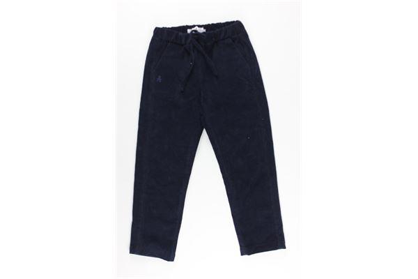 pantalone tinta unita tasca america elastico in vita LE BEBE'   Pantaloni   LBB2396BLU