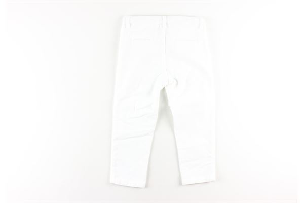 pantalone tinta unita con tasca america girovita regolabile LE BEBE'   Pantaloni   LBB2786BIANCO