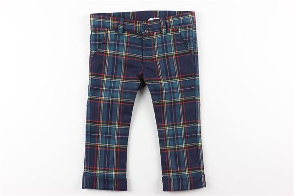 pantalone fantasia scozzese girovita regolabile LE BEBE'   Pantaloni   LBB2819VERDE
