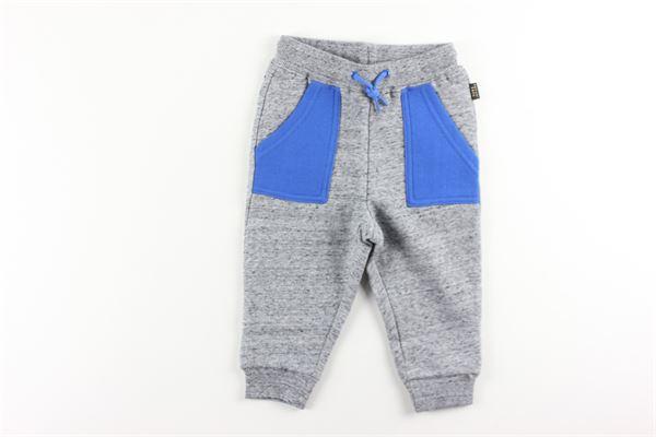 pantalone in felpa tinta unita bicolor LITTLE MARC JACOB | Pantaloni | W04170GRIGIO