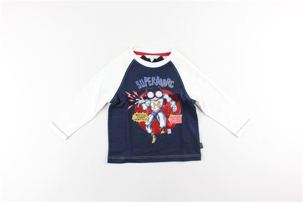 shirt tinta unita con stampa LITTLE MARC JACOB | Shirts | W25393BLU