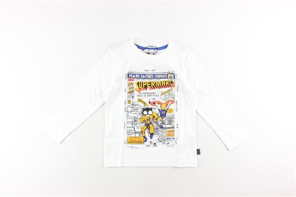 shirt tinta unita con stampa LITTLE MARC JACOB | Shirts | W25397BIANCO