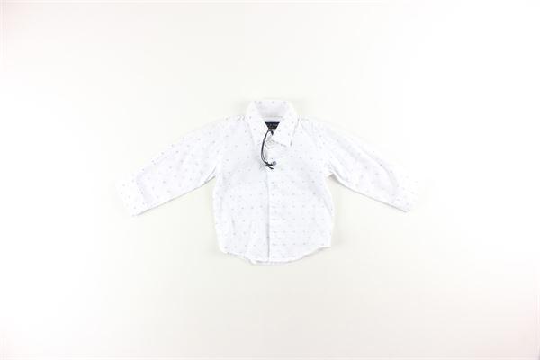 camicia manica lunga tinta unita con stampa MANUEL & FRANK   Camicie   M3364BIANCO