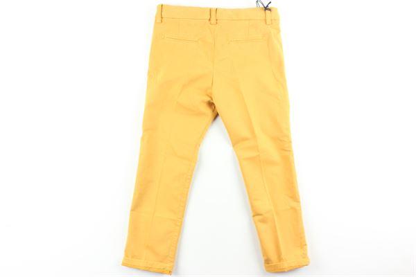 pantalone tinta unita girovita regolabile MANUEL & FRANK   Pantaloni   MF1103BGIALLO